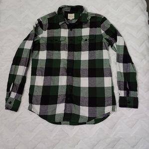 American Eagle Mens Plaid Tartan Checkered Shirt
